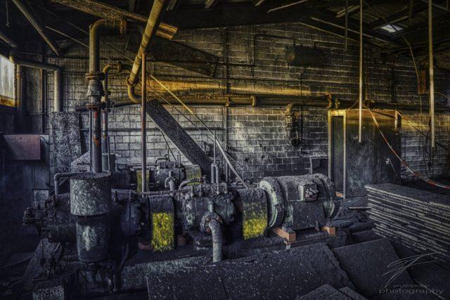 Old Compressor in the old Ferrum foundry in Schafisheim, Switzerland, Schweiz
