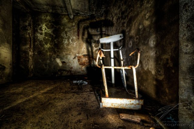 Shadow of a Chair - Clinique Du Diable, Alsace, France
