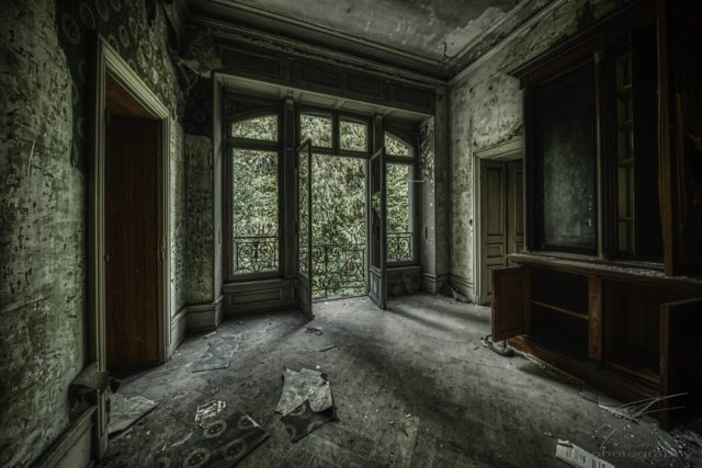 Let there be Light - a room in the abandoned Château Lumiere, a villa / manision in Alsace, France