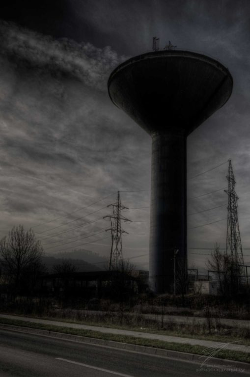 Watertower - in an old industrial area outside Brașov, Romania