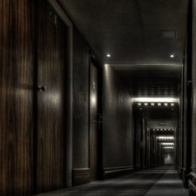 Dark Corridor - A hotel close to Brussels, Belgium