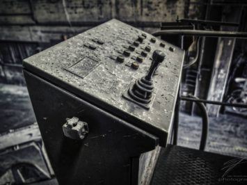 Control Console - the controls of one of the many cranes in the old Ferrum foundry in Schafisheim, Switzerland,Schweiz