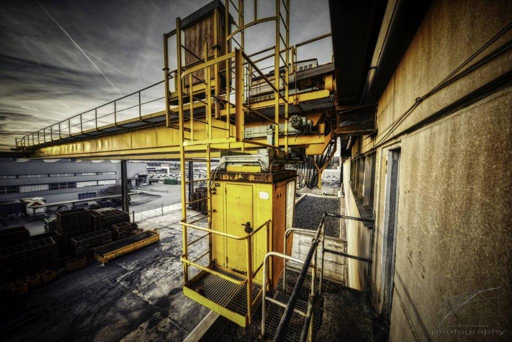 Crane Cab at the olf Ferrum foundry in Schafisheim, Switzerland, Schweiz