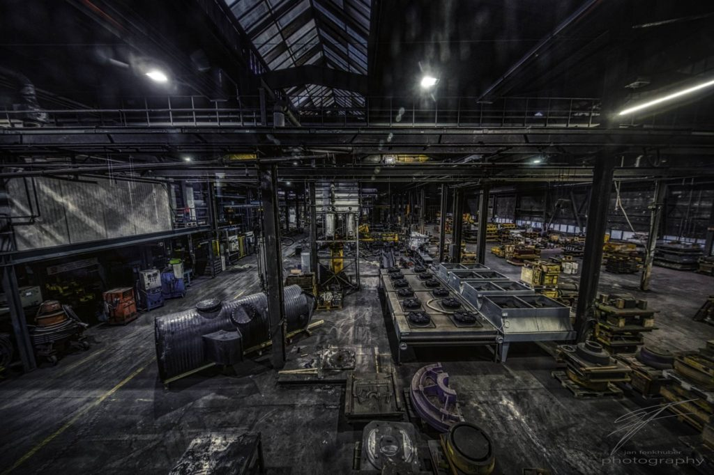 Factory Work Floor in the old Ferrum foundry in Schafisheim, Switzerland, Schweiz