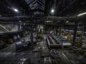 Factory Work Floor in the old Ferrum foundry in Schafisheim, Switzerland, Schweiz