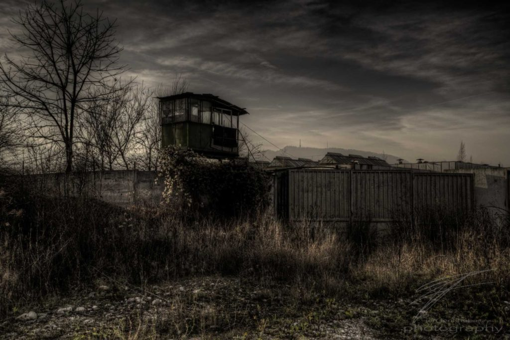 Watchtower - At the corner of an old industrial area outside Brașov, Romania